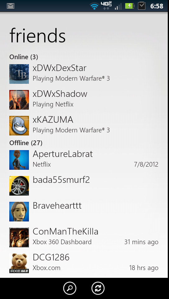 My Xbox Live Friends List