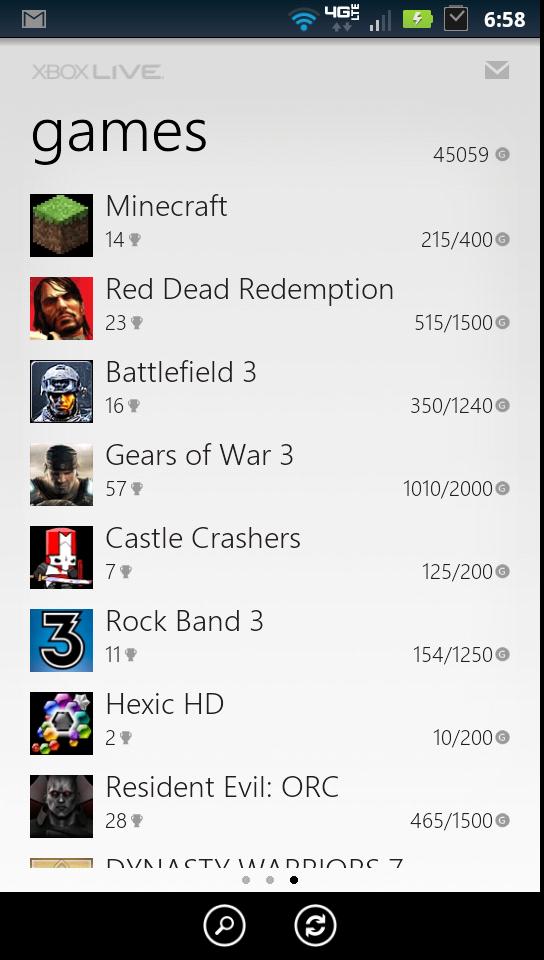 My Xbox Live Recent Games & Achievements