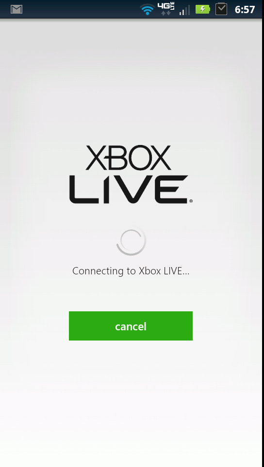 Signing in to My Xbox Live Loading