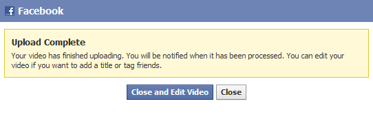 Uploading a video to Facebook Step 7