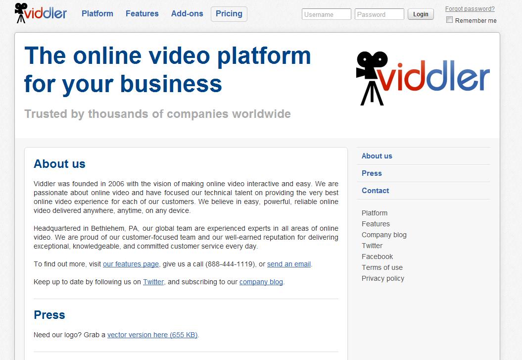 Viddler Video Upload Screenshot