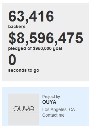 Ouya Campaign End