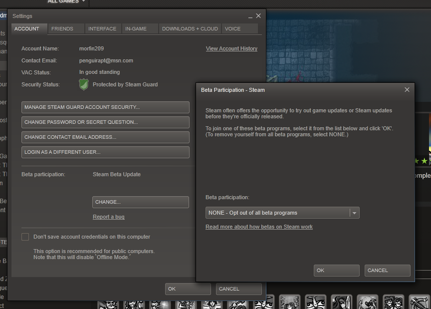 How to Opt Into the Steam Beta