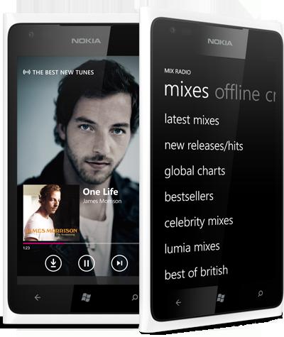 Nokia Music For Lumia Mix Radio Menu