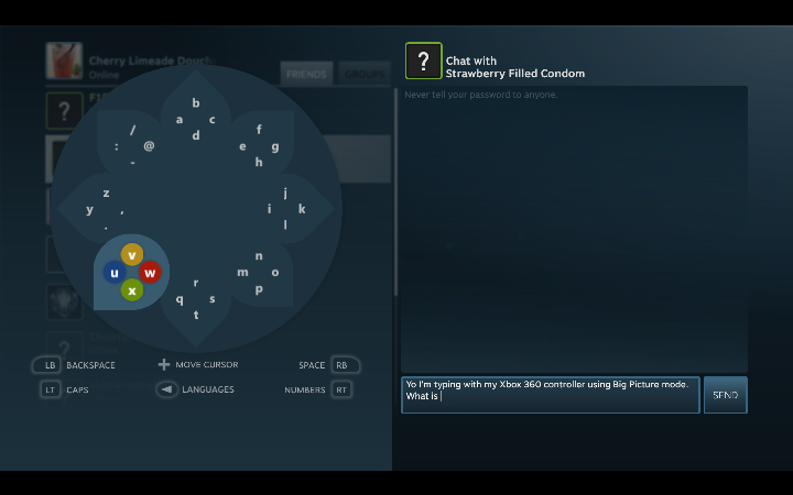 Steam Big Picture Mode Daisywheel