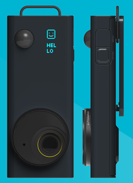 The OMG Autographer Front and Side of Device