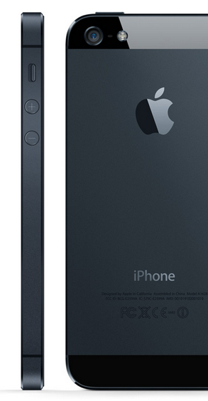 The iPhone 5 is Thinner