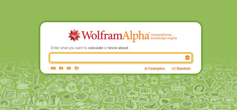 Wolfram Alpha Search Box