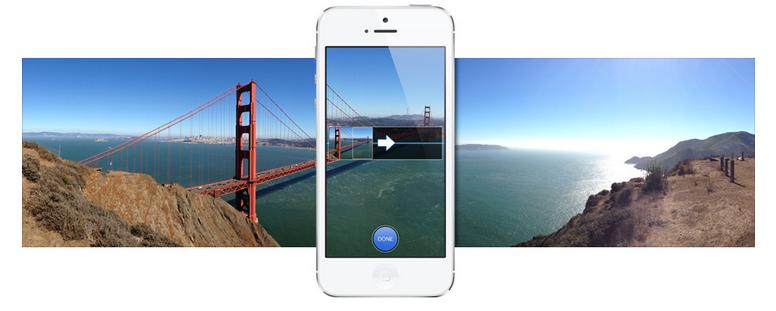 iPhone 5 Panoramic Capture Mode