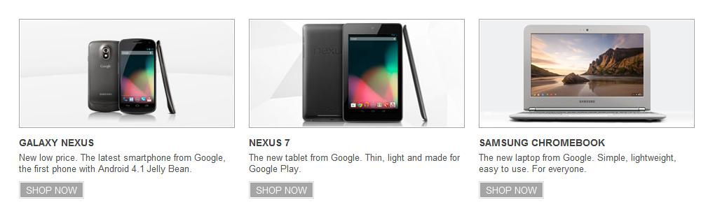 Chromebook With Google Nexus & Nexus 7