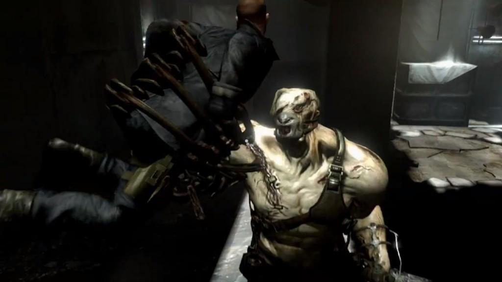 Jake Fighting Nemesis Like Boss in Resident Evil 6