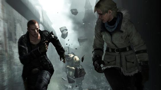 Sherry & Jake Running From Boss in Resident Evil 6