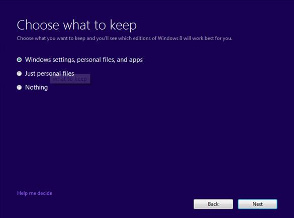 Upgrade to Windows 8