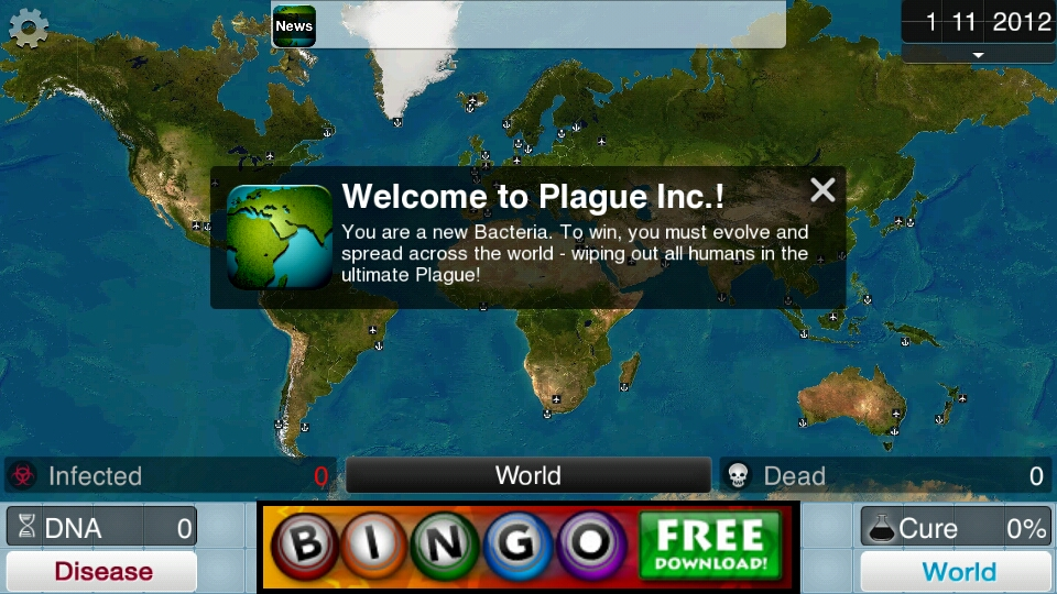 Welcome to Plague Inc