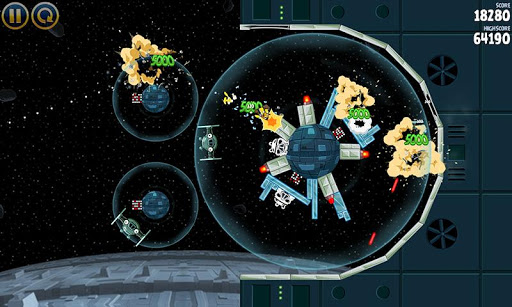 Angry Birds Star Wars Outside The Death Star