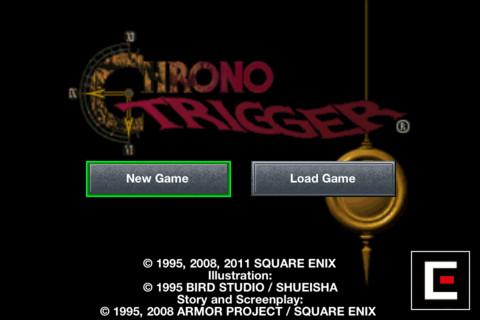 Chrono Trigger Main Menu