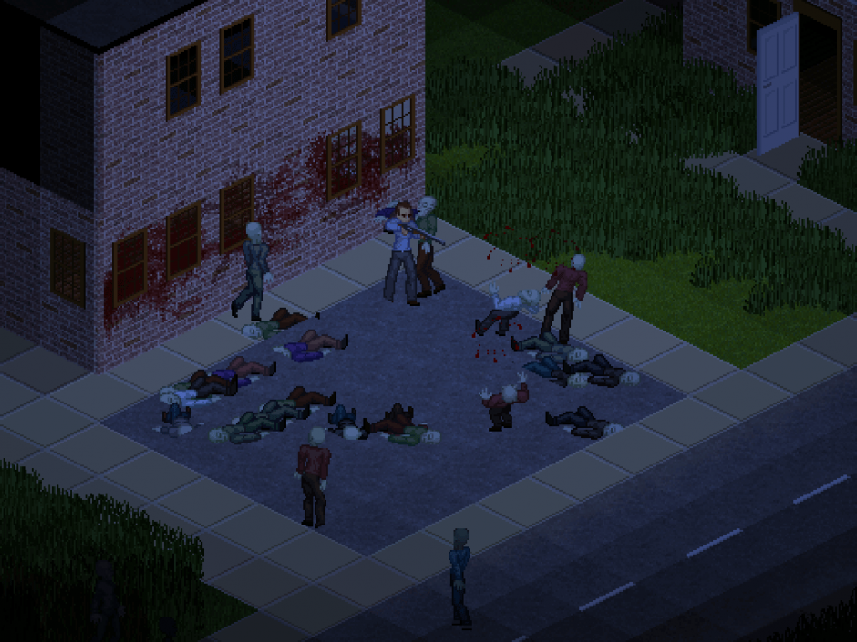 Fending Off Zombies in Project Zomboid With a Shotgun