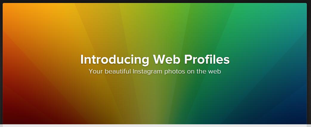 Introducing Instagram Web Profiles