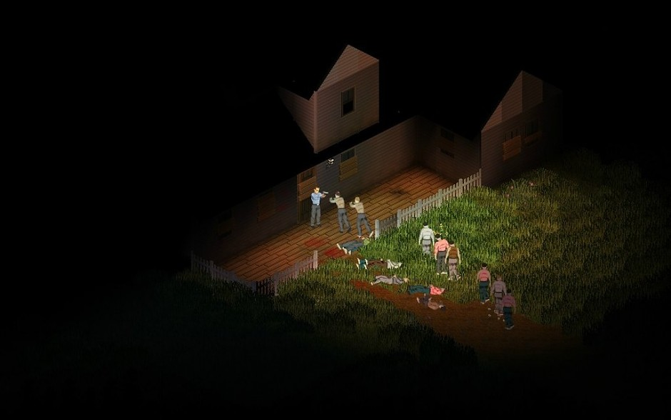 Project Zomboid Backed Against a Fortified Property
