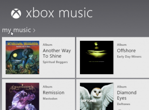 XBox Music in Windows 8