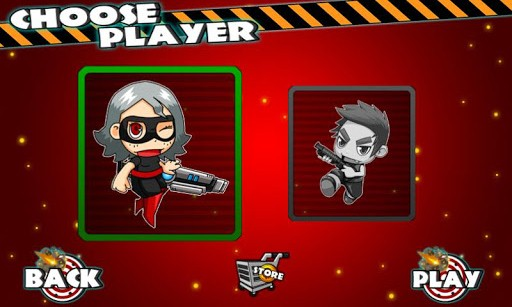 Zombie Dash Character Selection Screen
