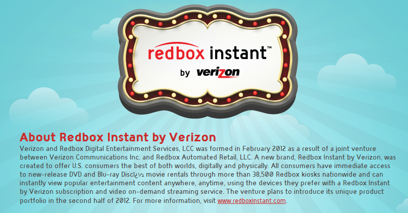 About Redbox Instant Streaming Service