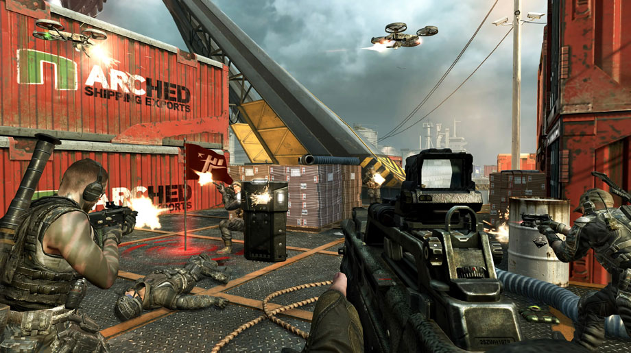 Call of Duty Black Ops II Multiplayer on Cargo- Rush